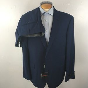 New Laurentino mens suit blue 48r Italy nwt ea0258